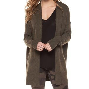 Dex lace up back open cardigan with pockets